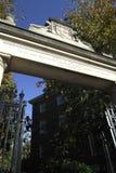 Cancello dell'Università di Harvard Fotografia Stock