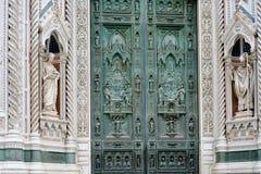 Cancello della cattedrale a Firenze Fotografia Stock