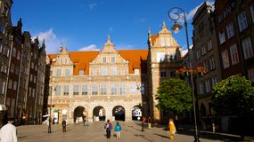 Cancello della città di Danzica Fotografia Stock
