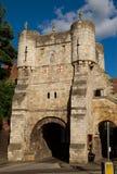 Cancello della città, York, Inghilterra fotografie stock
