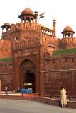 Cancello della fortificazione rossa Fotografia Stock Libera da Diritti