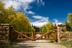 Cancello della montagna Fotografie Stock