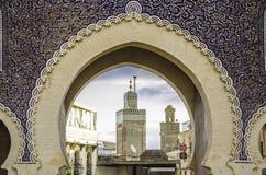 Cancello di Bab Bou Jeloud Immagine Stock Libera da Diritti