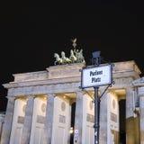 Cancello di Berlino Brandeburgo Fotografie Stock Libere da Diritti