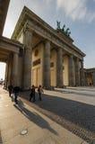 Cancello di Brandeburgo al tramonto Immagini Stock Libere da Diritti