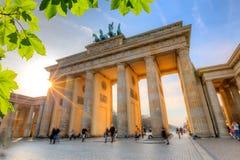 Cancello di Brandeburgo al tramonto fotografia stock libera da diritti
