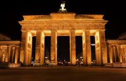 Cancello di Brandeburgo alla notte Immagine Stock Libera da Diritti