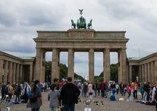 Cancello di Brandeburgo a Berlino immagini stock