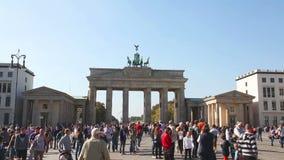 Cancello di Brandeburgo a Berlino, Germania archivi video