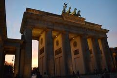 Cancello di Brandeburgo a Berlino, Germania immagine stock libera da diritti