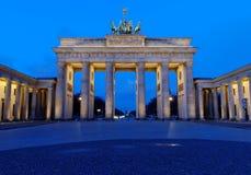 Cancello di Brandeburgo largo di vista Fotografie Stock Libere da Diritti