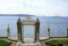 Cancello di Dolmabahce Fotografia Stock