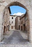 Cancello di Federico II. Montefalco. L'Umbria. Fotografia Stock