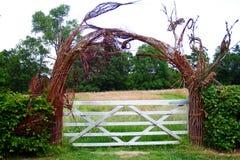 Cancello di giardino fotografie stock
