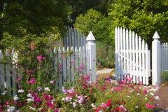 Cancello di giardino Fotografie Stock Libere da Diritti