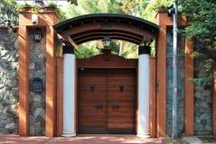 Cancello di giardino fronte Fotografia Stock