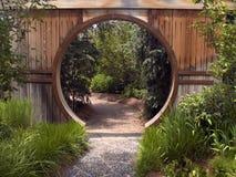 Cancello di giardino giapponese fotografia stock libera da diritti