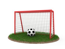 Cancello di gioco del calcio illustrazione di stock