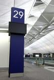 Cancello di imbarco nell'aeroporto di Hong Kong Fotografia Stock