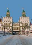 Cancello di Izmailovo kremlin Fotografia Stock Libera da Diritti