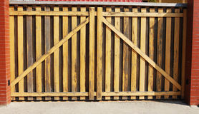 Cancello di legno Fotografia Stock Libera da Diritti