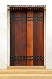 Cancello di legno Fotografie Stock