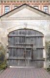 Cancello di legno antico Fotografia Stock