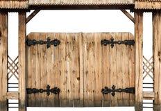 Cancello di legno antico Immagine Stock