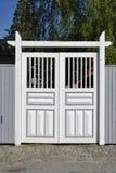 Cancello di legno bianco Fotografie Stock Libere da Diritti