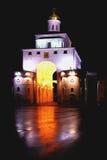 Cancello di notte Immagine Stock