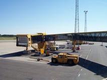 Cancello di partenza di arrivo dell'aeroporto Fotografia Stock