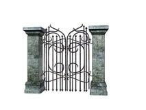 Cancello di pietra Fotografia Stock Libera da Diritti