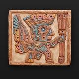 Cancello di pietra del sole del fregio di bas-relief Fotografia Stock Libera da Diritti