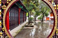 Cancello di stile cinese Fotografia Stock