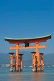 Cancello di Toji - grande cielo dello spazio della copia Immagine Stock