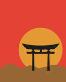 Cancello di Torii royalty illustrazione gratis