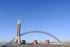 Cancello di tributo della strada principale fotografie stock libere da diritti