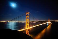 Cancello dorato Bridg Fotografia Stock Libera da Diritti