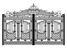 Cancello forgiato Immagini Stock Libere da Diritti