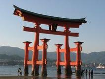Cancello giapponese a Miyajima Fotografia Stock