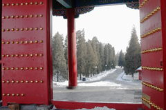 Cancello in GuGong (città severa, in Zijincheng) Fotografia Stock