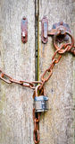 Cancello Locked fotografie stock