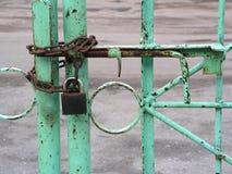 Cancello Locked Fotografie Stock Libere da Diritti