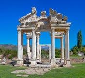 Cancello nei Aphrodisias Immagini Stock