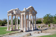 Cancello nei Aphrodisias Fotografia Stock