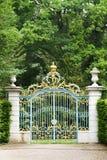 Cancello nel castello di Scwetzingen Immagine Stock