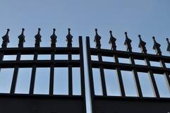 Cancello nero del ferro Immagini Stock Libere da Diritti