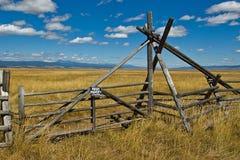 Cancello privato del ranch Immagine Stock