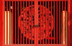 Cancello rosso fotografia stock