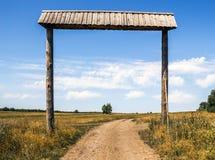 Cancello rurale Fotografia Stock Libera da Diritti